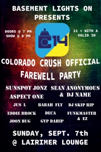 Crush Farewell Party Flyer